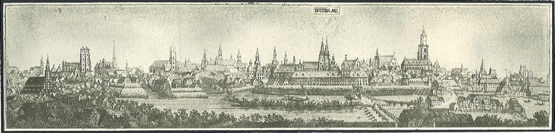 Wroclaw - North Side view. Author: A. Scholtz - XIX